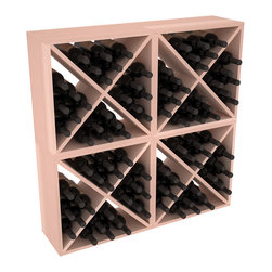 "Wine Racks America - 96 Bottle Wine Cube Collection in Premium Redwood, White Wash Stain - Perfect for moderate storage requirements and converting that ""underneath"" space into wine storage. Mix and match finishes to show your true wine-lover's spirit or experiment for a modern wine rack twist."