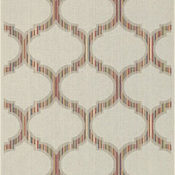 Loloi Rugs - Loloi Rugs Ibiza Ivory-Multi Contemporary Indoor / Outdoor Rug - From the Ibiza Collection, this Loloi Rugs indoor / outdoor rug uses a rainbow of hues that are revealed with a closer look. The trendy Moroccan-style lattice pattern features a wide range of colors, which are paired with an ivory colored overlay for interest and depth.