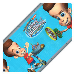 Brewster Home Fashions - Jimmy Neutron Boy Genius Wall Paper Border Accent Roll - Features: