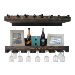 (del)Hutson Designs - Rustic Luxe Tiered Wine Rack- set of 2 - This is for a set of 2 shelves