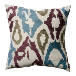 The Koko Company - Ankara Wine, Camel, Blue Eurasia flare 20 x 20 Ankara Pillow - - Inspired on Turkish ikats - add a New Eurasia flare to your Home  - Finish/Color: Wine/Camel/Blue  - Width: 20  - Depth: 20  - Height: 20  -Pillow and Fill Material: linen  - Laundering Information: Machine wash low heat dry The Koko Company - 91901
