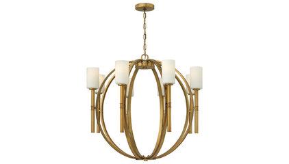 Hinkley 3588VS Margeaux Extra Large Vintage Brass 36 Inch Diameter 8 Lamp Modern