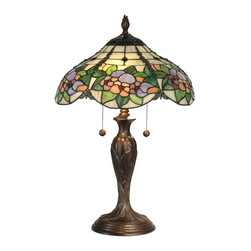 Dale Tiffany - Dale Tiffany TT90179 Chicago 2-Light Table Lamps in Antique Bronze Paint - Chicago Table Lamp