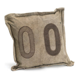 Go Home - #00 Gypsy Square Pillow - Fantastic Gypsy Square Pillow made from vintage tent canvas and its material condition and color may slightly vary as it is recycled.