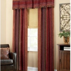 Croscill - Croscill Plateau 84-Inch Window Curtain Panel Pair - The warmth and beauty of a rustic cabin is portrayed though the beautiful colors and soft textures of these window treatments.