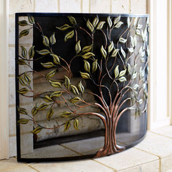 Pier 1 Imports Cercis Fireplace Screen - Our hand-forged iron screen is a heartwarming sight, even when your fireplace is empty. Best of all, its beauty has been sealed with a powder-coated finish for added durability.