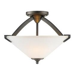 Golden Lighting - Golden Lighting 9363-SF-OP Presilla 3 Light Semi Flush Ceiling Fixture - Features: