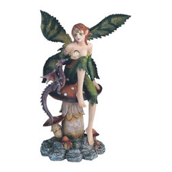 GSC - Fairy Collection Pixie with Baby Dragon Fantasy Figurine Decoration - This gorgeous Fairy Collection Pixie with Baby Dragon Fantasy Figurine Decoration has the finest details and highest quality you will find anywhere! Fairy Collection Pixie with Baby Dragon Fantasy Figurine Decoration is truly remarkable.