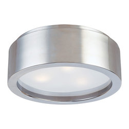 Sonneman - Sonneman 3721 Puck Flush Mount - Sonneman 3721.13 Puck Satin Nickel Contemporary Flush Mount