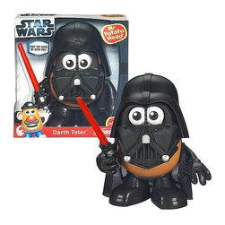 KOOLEKOO - Star Wars Mr. Potato Head Darth Tater - Darth Tater, the Spud Lord of the Sith, is here to help your imagination run wild! Mix and match the different pieces to create all kinds of out-of-this-world looks. Dress up the potato you love as the famous Star Wars villain! You can even mix and match all the pieces to create your own wacky character... or more accurately, Darth Vader! This Mr. Potato Head toy comes with all the mix-and-match parts to make the famous Star Wars villain! His potato body comes with 1 pair of eyes, 2 arms, pants with feet, mask, helmet, lightsaber accessory, and cape.