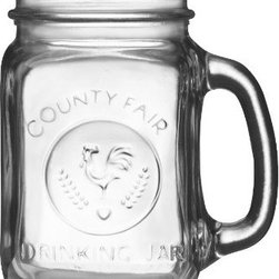 Libbey Country Fair 16-Ounce Drinking Jar with Handle - Keep the down-home vibe going at an outdoor party with these handled drinking jars. Chill them on ice and let guests pour their own drinks.