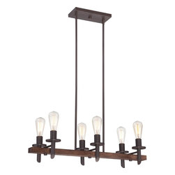 """Quoizel Lighting - Darkest Bronze Tavern 6 Light Island / Billiard Fixture - Installation Information Fixture includes 12 Feet of wire for easy installation at varying hanging height Includes four 6 inch and four 12 inch stems for installation at varying hanging height Ceiling Canopy Measures 10.5"""" x 4.5"""""""