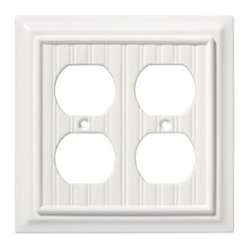 Liberty Hardware - Liberty Hardware 126468 Beadboard WP Collection 4.96 Inch Switch Plate - White - A simple change can make a huge impact on the look and feel of any room. Change out your old wall plates and give any room a brand new feel. Experience the look of a quality Liberty Hardware wall plate.. Width - 4.96 Inch,Height - 4.9 Inch,Projection - 0.4 Inch,Finish - White,Weight - 0.22 Lbs