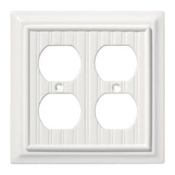 Liberty Hardware - Liberty Hardware 126468 Beadboard WP Collection 4.96 Inch Switch Plate - White - A simple change can make a huge impact on the look and feel of any room. Change out your old wall plates and give any room a brand new feel. Experience the look of a quality Liberty Hardware wall plate. Width - 4.96 Inch, Height - 4.9 Inch, Projection - 0.4 Inch, Finish - White, Weight - 0.22 Lbs.