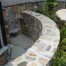 Transitional Landscaping Stones And Pavers by Myette Masonry & Design, Inc.