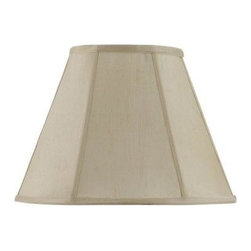 CAL Lighting - CAL Lighting Lamp Shade: 14 in. Champagne Vertical Piped Basic Empire Lamp Shade - Shop for Lighting & Fans at The Home Depot. This durable fabric shade is a good addition to any decor. It features an empire shape with visible trim. Simple in design, it works well any many styles and finishes.