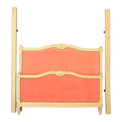 EuroLux Home - 1920 Louis XVI-Style Bed, Cream - Product Details