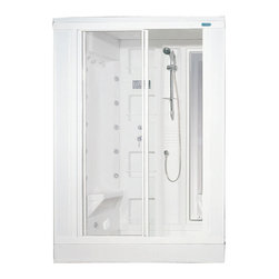 Ariel - Ariel ZA205 Steam Shower  59x31x85 - These fully loaded steam showers include a whirlpool bathtub, massage jets, and built in FM Radio for Easy Listening s to help increase your therapeutic experience.