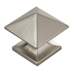 """Hickory Hardware - Square Studio Collection Stainless Steel Cabinet Knob, 1 1/4"""" - Bridges contemporary and traditional design. Offering a deep rooted sense of history in some, with an updated feel and cleaner lines."""