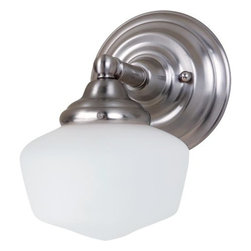 Sea Gull Lighting - Sea Gull Lighting 44436BLE Academy 1 Light Energy Star Bathroom Sconce - Features:
