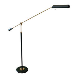 House of Troy - Grand Piano Floor Lamps Piano Lamp - House of Troy PFL-617 - Black & Brass Finish. 26-54H x 10W x 33Deep. Takes one 60 watt T10 bulb (not included). Weight: 25 lbs. By House of Troy