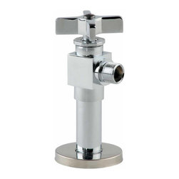 Renovators Supply - Angle Stop Valves Chrome Toilet Angle Stop Valve 1/2 FIPx3/8 OD - Chrome Angle Stop Valve, 1/2 FIPx3/8 OD for Sinks