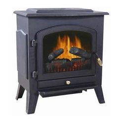 World Marketing - Comfort Glow Shilo Electric Fireplace - Comfort Glow Shilo Electric Stove - 750w/1500W heat selection; realistic flame and glowing ember logs; top mounted controls; flame only option (no heat); power on indicator lamp; black finnish