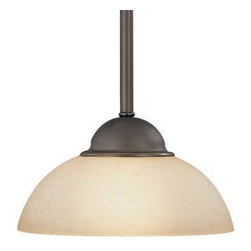 Dolan Designs Lighting - Mini-Pendant with Caramelized Glass - 200-78 - Includes one 6-inch and three 12-inch stem segments with an integrated sloped ceiling adapter. Takes (1) 60-watt incandescent G16.5 bulb(s). Bulb(s) sold separately. UL listed. Dry location rated.
