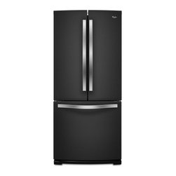 """Whirlpool - WRF560SMYE 30"""" French Door Refrigerator with 19.6 cu. ft.  SpillSaver Glass Shel - Keep groceries organized with this Whirlpool French door refrigerator that features Spillsaver glass shelves that contain messes for easy cleanup and a FreshFlow produce preserver to keep fruits and vegetables fresh"""
