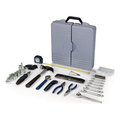 Picnic Time - Professional Tool Kit - Grey - The Professional Tool Kit is a deluxe tool set that has everything you need for jobs around the home or the garage. Makes a great gift for those who like to do their own handyman work around the house.