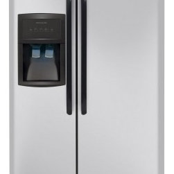 """Frigidaire - FFHS2322MM 33"""" 22.6 cu. ft. Freestanding Side-by-Side Refrigerator With PureSour - PureSource 3 Water Filtration gives you cleaner better-tasting water at your fingertips Store-More Humidity-Controlled Crisper Drawers Keep your fruits and vegetables fresh in our humidity-controlled crisper drawers"""