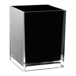 Gedy - Free Standing Waste Basket With No Cover, Black - If your bathroom is in need of a waste basket, why not consider this high-end bathroom waste basket from the Gedy Rainbow collection? Perfect for more contemporary & modern settings, this high quality waste bin is free standing and finished with white, green, blue, red, black, orange, silver, fuschia, or lilac.