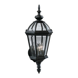 Kichler - Kichler Trenton 3-Light Black (Painted) Wall Lantern - 9251BK - This 3-Light Wall Lantern is part of the Trenton Collection and has a Black (painted) Finish. It is Outdoor Capable.