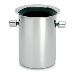Peugeot - Peugeot Thermal Balancing Bucket with Removable Ice Packs - Beautiful thermal-balancing wine bucket where ice is not required and the bottle stays dry. Polished metal exterior, an ABS plastic interior liner, and four removable ice-pack inserts that rest between the two layers. The inserts have a non-toxic filling and can be kept in the freezer.