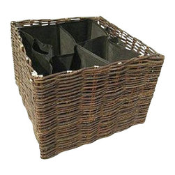 """Master Garden Products - Willow Square Planter with Non-woven Liner, 25""""L x 25""""W x 18""""H - Our willow planters allows you to plant directly into the basket anywhere in your garden where the conditions are right. These planters are excellent for a wide range of plants and will definitely give your garden an authentic feel. The soil is filled into the liner bags which is made from non woven fabric, the same materiel used in making the very popular direct growth hanging planter bag. The willow planter walls are consisted of classic willow woven panels. They are easily movable and can be put away when not in use."""