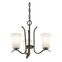 Kichler Lighting - Kichler Lighting Armida Transitional Chandelier X-ZO37034 - Indulge in classic elegance with this refined chandelier. The hand-forged steel is twisted into graceful curling scrolls. The satin etched white glass provides ambient brightness to the room. The Kichler Lighting Armida Transitional chandelier features a casual steel frame in an olde bronze finish.