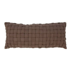 Hatteras Hammocks - Soft Weave Deluxe Hammock Pillow - Chocolate - Like wicker-woven thatchworks of plush fabric ribbons, our inviting Soft Weave� Hammocks not only appear handsomely distinct, but with their 1-inch layer of polyester fiberfill batting, they also yield an uncanny level of cushiony comfort. The soft, all weather, solution-dyed fabric means many seasons of great-looking, great-feeling reclining ahead. Spreader bars are natural-finish South American cumaru, among the hardest, densest, prettiest woods on Earth, while hanging chains and hardware are zinc-plated steel, for an even further boost to these wholly uncommon hammocks' exceptional looks and outstanding weatherability. The Soft Weave� Deluxe hammock Pillow, sold separately, features the same striking crosshatch weave of padded fabric ribbons, but set atop a think cushion of polyester fiberfill batting. Hammock and stand sold separately.