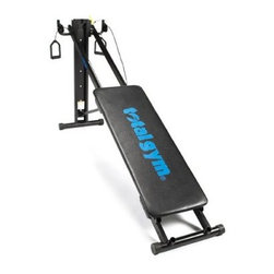 Total Gym 2000 Home Gym - If you want to make a huge impact on your health, but don't want to take a huge hit to your wallet, the Total Gym 2000 is the perfect home gym for you. This affordable home gym has everything you need to build muscle, increase endurance, and enhance flexibility. The Total Gym is a complete workout machine that includes over 40 exercises. You'll see results quickly as you progress through the included Start It Up Workout DVD. No assembly required. Folds for easy storage. Endorsed by Chuck Norris & Christie Brinkley. Weight capacity: 250 pounds.Please note this product does not ship to Pennsylvania.