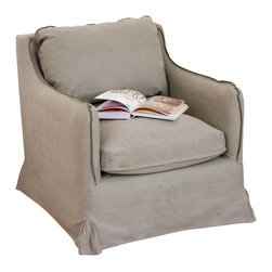 Great Deal Furniture - Thomas Gray Fabric Sofa Chair - The Thomas Sofa Chair offers a perfect balance in form and function. From the neutral color to the plush fabric used in the upholstery and design, this chair will be inviting you and your guests. Enjoy comfort with no sacrifice to your interior decor with this sofa chair.
