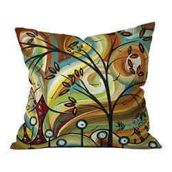 DENY Designs - DENY Designs Madart Inc Fall Colors Throw Pillow, Large - Wanna transform a serious room into a fun, inviting space? Looking to complete a room full of solids with a unique print? Need to add a pop of color to your dull, lackluster space? Accomplish all of the above with one simple, yet powerful home accessory we like to call the DENY Throw Pillow! Available in four sizes, our throw pillow is made from a medium weight woven polyester with a hidden zipper and removable bun insert.