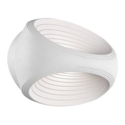 Modern Forms - Rhythm LED Wall Sconce by Modern Forms - Can you see sound? It's not a psychedelic experiment with the Modern Forms Rhythm LED Wall Sconce. This visual representation of acoustic reverberations is constructed from aluminum using a lost-wax casting technique that allows for highly detailed, utterly smooth lines. Concealed LEDs highlight the oval-shaped ridges and provide a wash of fluid ambient light. Organic and original, Rhythm resonates in contemporary design schemes. WAC Lighting, founded in 1984, has developed a strong reputation for high quality decorative and task lighting. Based in Garden City, New York, WAC Lighting is a leading manufacturer of low voltage, line voltage and LED lighting, including track systems, transformers, lamps, cabinet lighting and recessed downlights.