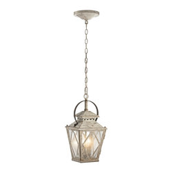 Kichler Lighting - Kichler Lighting 43258DAW Hayman Bay Traditional Pendant Light - This delicate 2 light pendant from the Hayman Bay collection will make a memorable statement in your home. Featuring a Distressed Antique White finish and Clear Seedy Glass, this design embraces understated elegance.