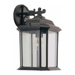 Sea Gull Lighting - 1-Light Wall Lantern Black - 84031-12 Sea Gull Lighting Kent 1-Light Outdoor Wall Lantern with a Black Finish