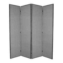 Screen Gems - Screen Gems Mandalay Screen - Give your living room a modern  look with the Mandalay Screen. This screen  upholstered in grey fabric  will look great with just about any decor  and is built on a kiln-dried hardwood frame for maximum strength and durability.