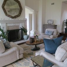 Beach Style Living Room by Barbara Grushow Designs LLC