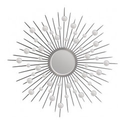 Ren-Wil Starburst Mirror - While sunburst mirrors have been taking over our mantles and over the headboard spaces as of late, now it's time for STARBURST mirrors to have their moment. This one is elegant, contemporary, and a little retro glam.