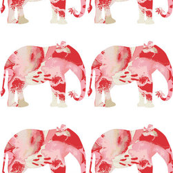Lily Elephant Wallpaper - Elephants! They are just too cute and too perfect for a nursery. I love the watercolor motif that these guys bring to a space.