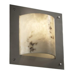 Justice Design Group LLC - Justice Design Group FAL-5561 - Framed Square 4-Sided Wall Sconce (ADA) - Brushe - Shop for Wall Mounted Lighting and Sconces from Hayneedle.com! About Justice DesignEndless inimitable lighting that's what Justice Design deals in. More than 200 different shapes. More than 35 different finishes. That's a huge amount of customization -- right at your fingertips. Speaking of fingertips each fixture is painstakingly crafted by skilled artisans by hand. Whether you're looking for indoor or outdoor lighting residential or commercial Justice Design is sure to have just the right fixture to match your needs and personality.