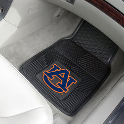 Fanmats - Fanmats Auburn 2-piece Vinyl Car Mats - These two black vinyl car mats are a perfect gift for the Auburn Tigers sports fan, with an official licensed Auburn logo. This set of two mats is designed to fit in any car or truck, and made of 100-percent vinyl to endure years of wear.