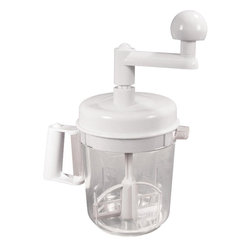 Weston - Multi Function Manual Mixer - Multi-Function Manual Mixer - mix batters, beat eggs, chop fruits and vegetables for salds and salsas.  includes three blade chopper, 2 whisk attachments, 2 mixer attachments and beater attachment.  top-shelf dishwasher safe